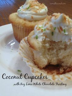 Num's the Word: These Coconut Cupcakes are delicious by themselves, but add on the white chocolate key lime frosting and you have the PERFECT cupcake. These never last and are always a hit!
