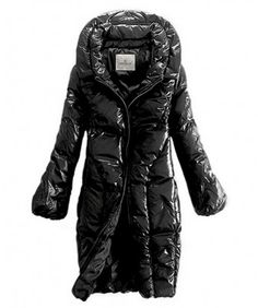 Moncler Down Women Coats Zip Style Long Black http://www.onlakemac.com/moncler-coats-women.html
