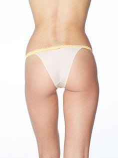 Etsy の Yellow Brazilian Cut String Underwear by GianineBikini