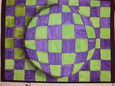 Optical art. A cool project for older kids.