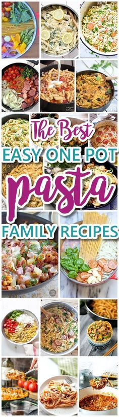 The Best Easy One Pot Pasta Family Dinner Recipes - Grab a Simple Quick and Delicious Hearty Recipe for dinner this week - via Dreaming in DIY #onepotpasta #onepotmeals #pastarecipes #onepotpastarecipes #onepotrecipes #mealprep #pasta #easyrecipes #easydinners #easylunches #simplefamilymeals #simplefamilyrecipes #simplerecipes