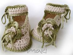 Crochet chaussons tendance parfait pour une par MakiCrochet