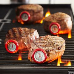 Sur La Table® Round Steak Button Thermometers . These would make a great Father's Day gift!