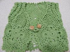 Cuadro tejido de Piñas con 14 vueltas es algo muy facil y se puede tejer para blusa, mantel, orilla para cortinas o las cortinas en si.