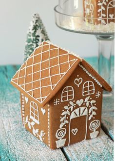 Snow Globe Gingerbread Houses Recipe. Cute idea via Butter Hearts Sugar.