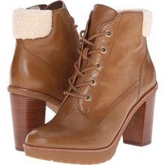 MICHAEL Michael Kors Kim Lace Up Bootie (Dark Caramel Distressed... ($108) ❤ liked on Polyvore featuring shoes, boots, ankle booties, brown, lace up platform booties, platform ankle boots, lace up boots, short boots and platform booties