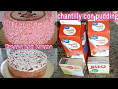 Como Hacer Chantilly Con Pudding + Relleno De Fresas Con Crema - YouTube Doctor Cake, Jello, Whipped Cream, Frosting, Cake Recipes, Cake Ideas, Youtube, Cakes, Videos