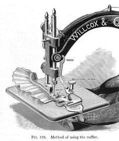 Willcox and Gibbs Sewing Machine Ruffler Attachment