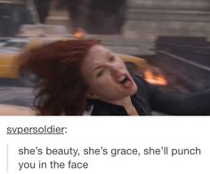 She's beauty, she's grace, she'll punch you in the face