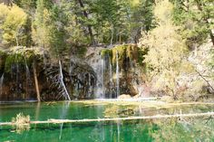 Hanging Lake - in the fall, with very little water. #Colorado
