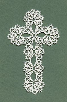 Creativity is fun - Crochet, tatting, lace-making and more. Crochet Cross, Crochet Motif, Crochet Patterns, Tatting Jewelry, Tatting Lace, Needle Tatting Patterns, Tatting Tutorial, Crochet Bookmarks, Cross Patterns
