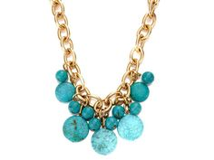 {Turquoise & Gold Necklace} seriously baubleicious statement necklace :)