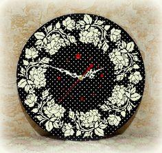 . Decoupage, Wall Clocks, Roses, Crafts, Watches, Decor, Art, Manualidades, Decoration