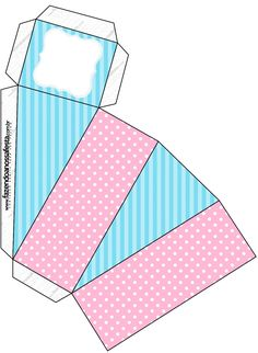 Caixa Fatia Azul e Rosa Mini Craft, Craft Box, Toilet Paper Roll Crafts, Paper Crafts, Peppa E George, Diy Party Bags, Wedding Cake Boxes, Rainbow Cartoon, Make Your Own Labels