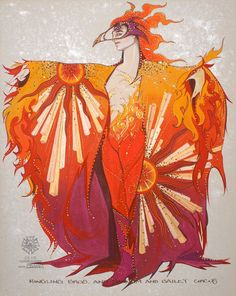 Gregg Barnes is one of the greatest costume designers and illustrators.
