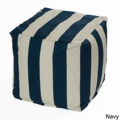 Striped Indoor/ Outdoor Beanbag Cube | Overstock.com Shopping - Big Discounts on chateau designs Outdoor Cushions & Pillows