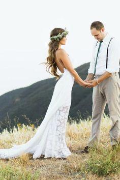 Bridal Gown Designers Bohemian Wedding Dress With Side Split Spaghetti Straps Boho Wedding Gown White/Ivory Beach Bridal Dress Custom Size Made Wedding Dress Guide From Gama, $115.19  Dhgate.Com
