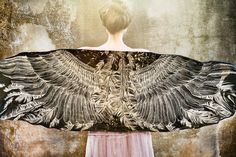 Women scarf, Hand painted Wings and feathers on black Modal/rayon, stunning unique and useful, perfect gift. $56.00, via Etsy.
