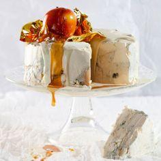 Taste Mag   Gorgonzola cheesecake with white-chocolate frosting @ http://taste.co.za/recipes/gorgonzola-cheesecake-with-white-chocolate-frosting/