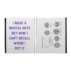 I Made a Mental Note... iPad Folio Cover