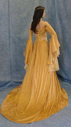 Renaissance medieval handfasting fantasy wedding dress custom made. Renaissance Mode, Renaissance Costume, Renaissance Dresses, Renaissance Fashion, Medieval Dress, Medieval Clothing, Steampunk Clothing, Medieval Fantasy, Steampunk Fashion