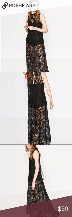 445cec23e8 ♧️New Zara lace maxi dress in M sexy and chic♧️