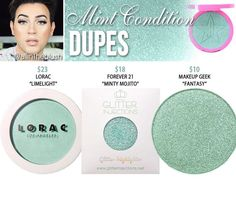 Jeffree star highlighter dupes in the shade Mint Condition // Kayy Dubb ♡