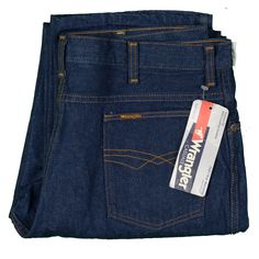 68533fd9 Wrangler Jeans Vintage 80's Deadstock Made USA Denim Talon Zip 36x33 Slim  Fit #Wrangler #