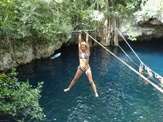 Cenote Verde Lucero, which means Bright Green Star, too much FUN!