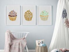 Cupcake Nursery Prints Art Decor