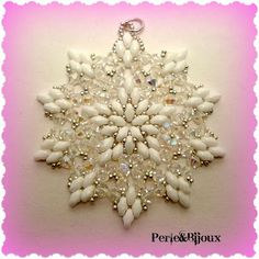 Perle: Ciondolo Starlight I don't often use twin beads but this is a beautiful design and worth sharing