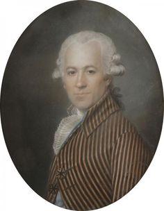 Attribué à Aleksander KUCHARSKI (1741 - 1819), 1793, Portrait présumé de Monsieur Barbot