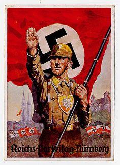 . 110: Deutsches Reich - Postkarten  Beschreibung    Reichsparteitag Nürnberg