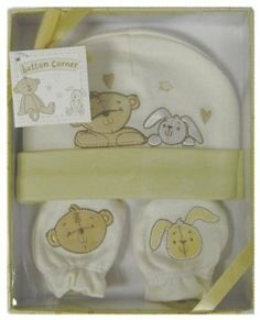 Cute Button Corner Embroidered New Baby Hat & Mittens Set in Gift Box by Widdop Bingham, http://www.amazon.co.uk/dp/B007HZQJCY/ref=cm_sw_r_pi_dp_xAU5sb08W9CD5