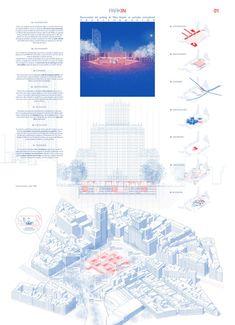 Estas son las propuestas que compiten para remodelar la Plaza España en Madrid,Parkin. Image © Difusión Ayuntamiento de Madrid