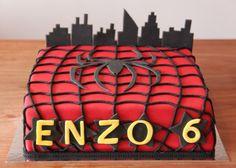 Kindertaarten - Koning Kikker Spider-Man cake