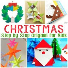 Christmas Origami for Kids - Easy Peasy and Fun Simple Christmas Origami for Kids Easy Origami For Kids, Cute Origami, Origami Star Box, Origami Easy, Origami Folding, Origami Owl, Christmas Crafts For Toddlers, Easy Christmas Crafts, Simple Christmas