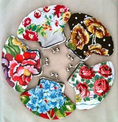 Crafts With Vintage Hankies | Spring 2012 Art Star Craft Bazaar / clutches made from vintage hankies ...
