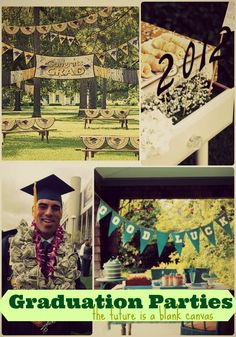 Some great ideas and themes for graduation parties! #commencement #graduation #openhouse