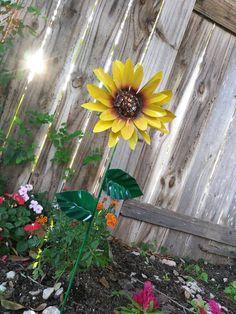 Metal Flower Garden Stake Metal Sunflower Garden Art Metal