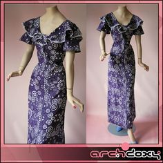 Vintage 1970s Purple Psychedelic Angel Sleeve Spirograph Frilled Maxi Dress #vintage  http://www.ebay.co.uk/itm/Vintage-1970s-Purple-Psychedelic-Angel-Sleeve-Spirograph-Frilled-Maxi-Dress-UK12-/281995797411?ssPageName=STRK:MESE:IT