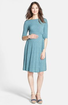 Leota 'Ilana' Belted Maternity Dress available at #Nordstrom