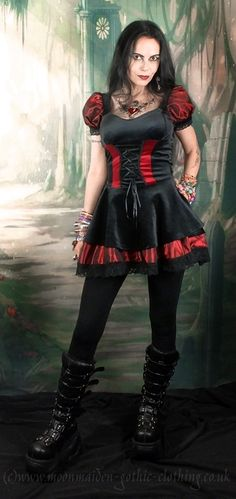 Vorpalia Mini Dress - steampunk Alice dress by Moonmaiden Gothic Clothing UK