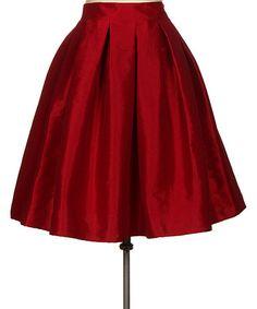 Red A-Line Skirt #zulily #zulilyfinds
