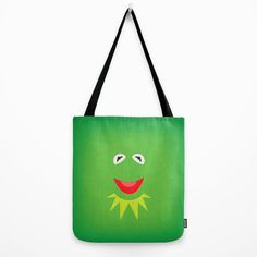 The Muppet Show Kermit the Frog Minimalist Tote Bag by www.etsy.com/shop/TheRetroInc