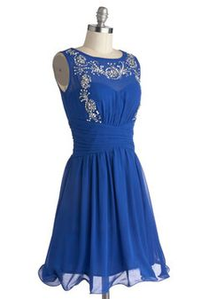 This would be beautiful with silver tights for a Christmas party! (Glows Without Saying Dress, #ModCloth)