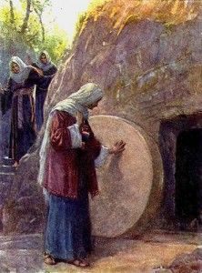 Mary Magdalene is the first among the female disciples of Jesus.  She brings Easter to us.