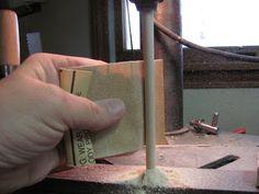 Dollhouse Miniature Furniture - Tutorials | 1 inch minis: How to make a lamp base