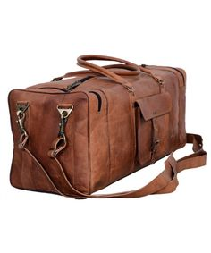 3d29fcde79d6 Leather Duffel Bag Large 28 inch Travel Bag Gym Sports Overnight Weekender  Bag by Komal s Passion Leather - CS18CI20ENU