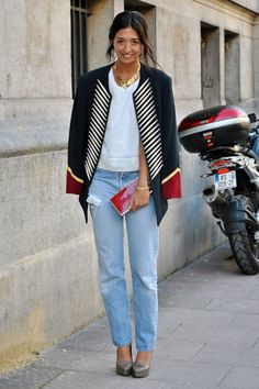 Street Style: Chic and Modern Street Style Outfits, Street Style Women, Star Fashion, Look Fashion, Blazer Fashion, Cheap Fashion, Street Fashion, Fall Fashion, Fashion Models
